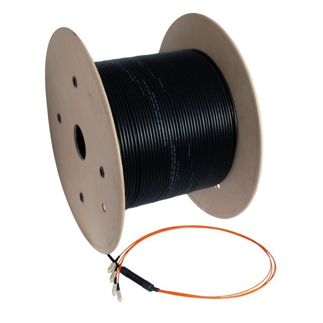 Prefab glasvezelkabel inclusief connectoren op maat