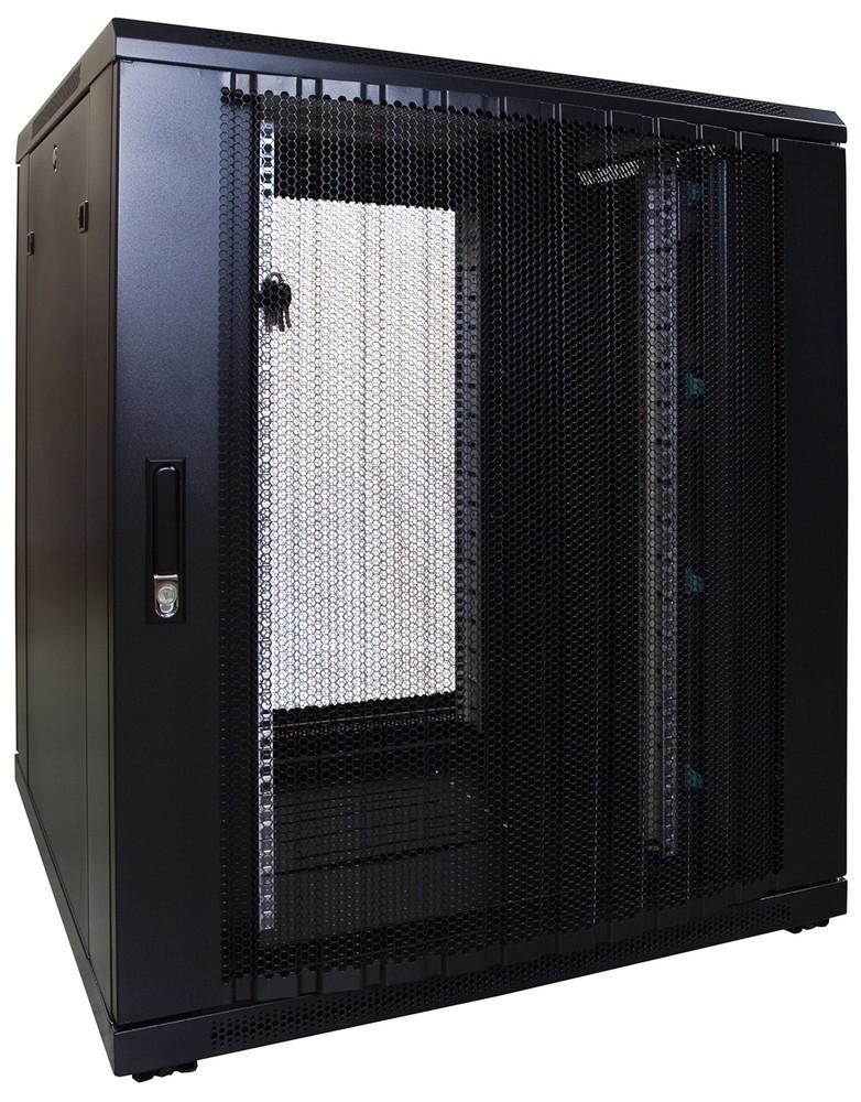 Afbeelding van 18U serverkast met geperforeerde deur 800x800x1000mm (BxDxH)