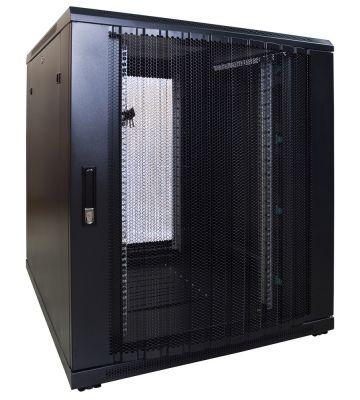 18U serverkast met geperforeerde deur 800x1000x1000mm (BxDxH)