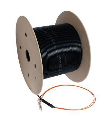 OM2 glasvezel kabel op maat 8 vezels incl. connectoren