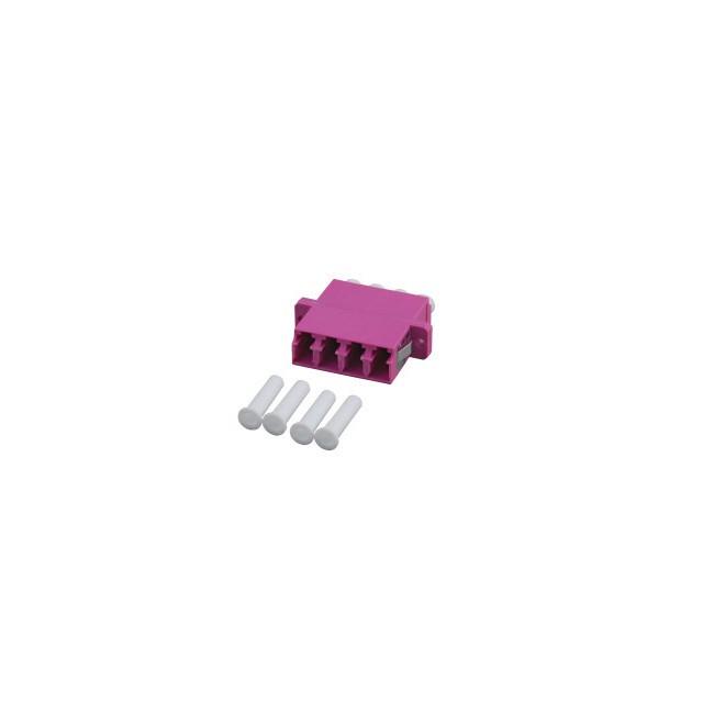 Afbeelding van Multimode koppeling 4-voudig LC-LC quad paars